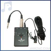 خرید اینترنتی میکروفون یقه ای با سیم فری پاور مدل 115